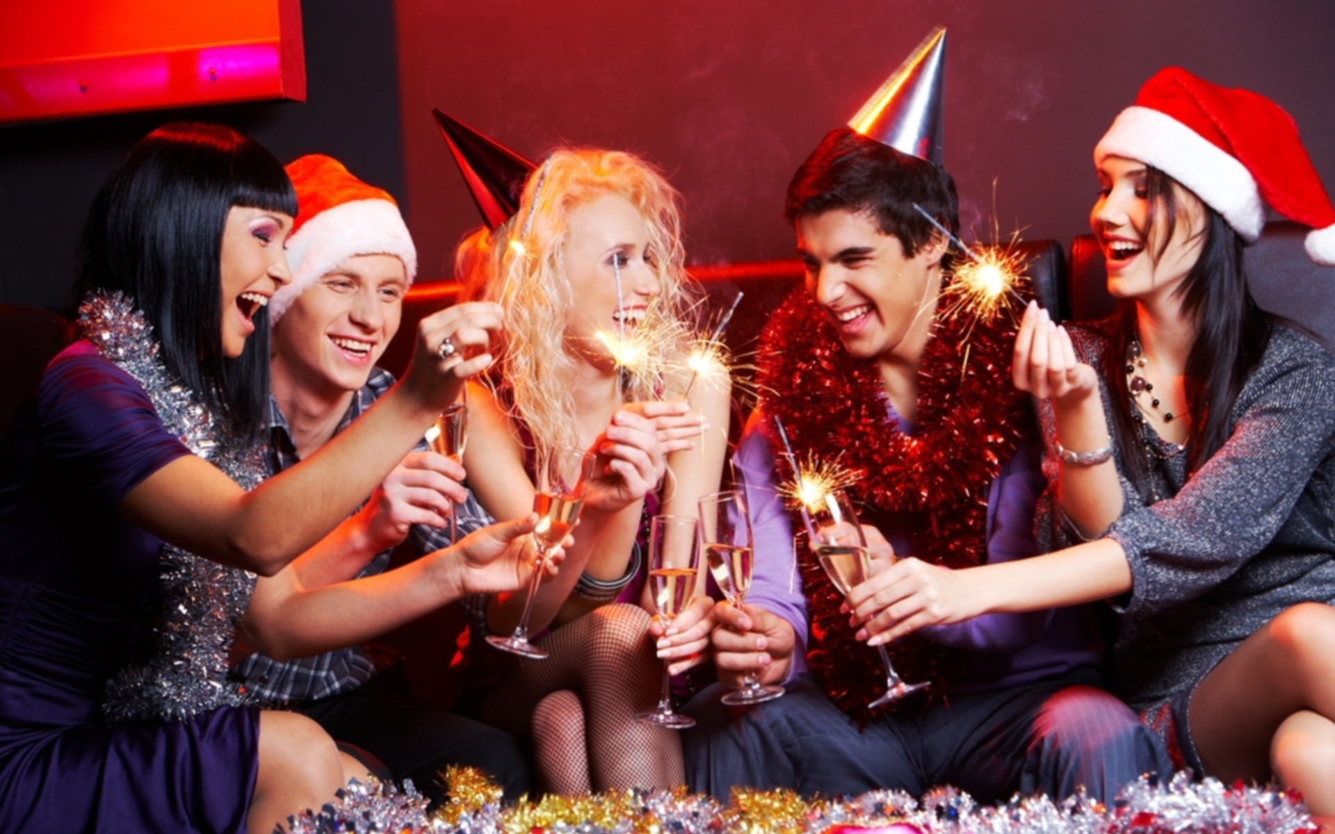 Кричалка за столом на новый год