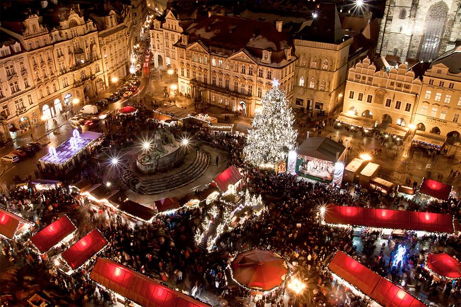 В чем встречают новый год туристы в праге