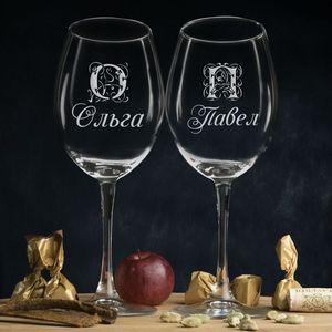 Именные бокалы для вина, фото