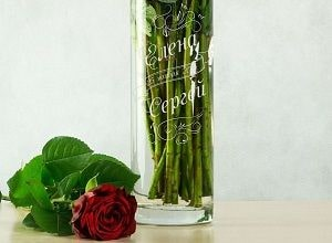 Именная ваза для цветов, фото
