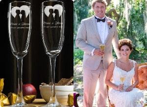 Набор свадебных именных фужеров, фото
