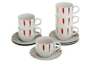 Набор кофейных чашек из фарфора