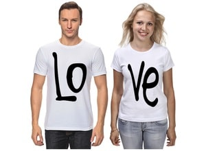 Индивидуальные парные футболки