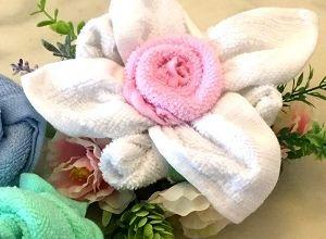 Цветок - полотенце