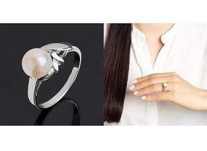 Кольцо с натуральным камнем, фото