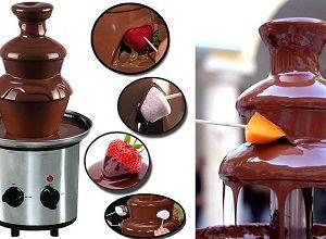 Шоколадный фонтан-фондю, фото