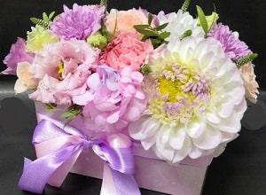 Корзина цветов, фото