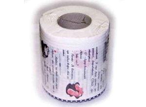 Туалетная бумага с анекдотами, фото