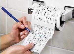 Туалетная бумага с судоку, фото