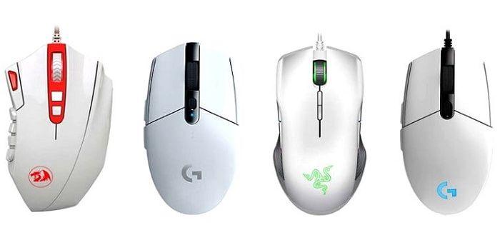 Белая компьютерная мышка, фото