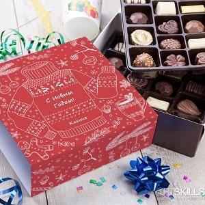 Именной набор бельгийского шоколада