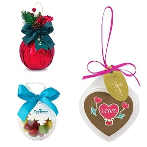 Шоколадные елочные шары, фото