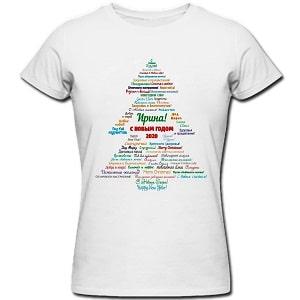 Именная футболка, фото