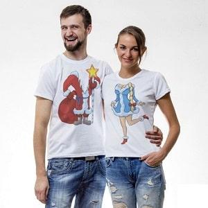 Парные футболки, фото