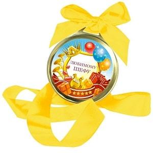 Шоколадная медаль Любимому шефу, фото