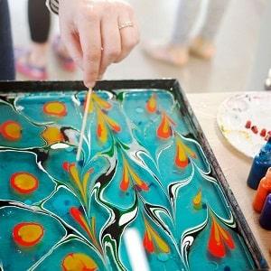 Рисование на воде, фото