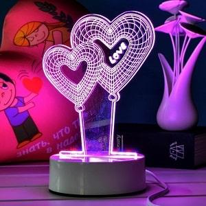3D светильник, фото