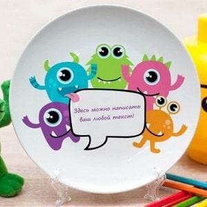 Именная тарелка Монстрики, фото