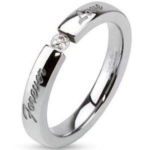Стальное кольцо Навсегда любовь, фото