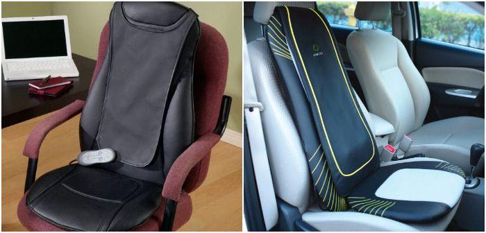 Массажная накидка на офисное и автомобильное кресло, фото