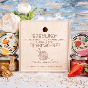 Набор фруктового крем-мёда Бабушке, фото