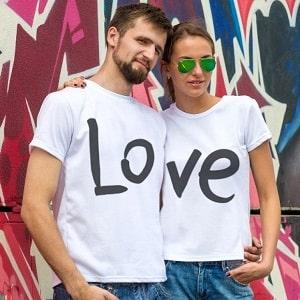 Парные футболки Love, фото