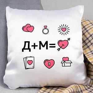 Подушка с инициалами, фото