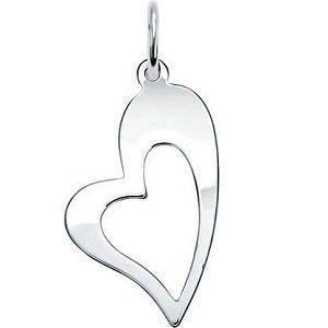 Серебряный кулон Сердце, фото