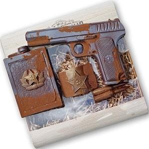 Шоколадный набор с пистолетом, фото