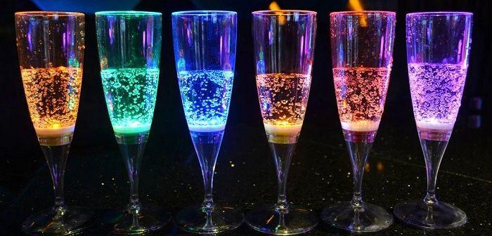 Светящиеся бокалы, фото