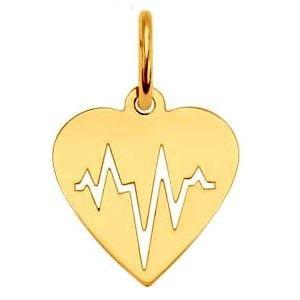 Золотой кулон Сердце, фото