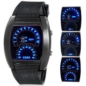 Часы Спидометр светодиодные, фото