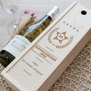 Коробка для вина с гравировкой, фото