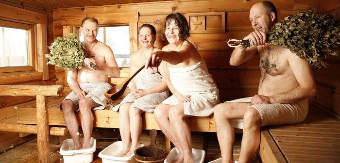 Люди в сауне, фото