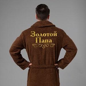 Мужской халат с вышивкой, фото