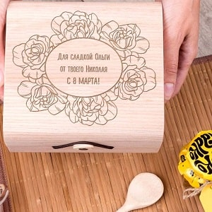 Подарочный набор мёда С 8 марта