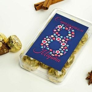 Набор конфет С праздником 8 Марта, фото