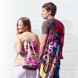 Рюкзак с принтом, фото