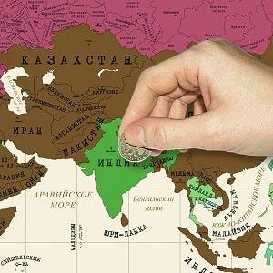 Скретч-карта мира, фото