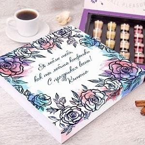 Конфеты ручной работы Delioro с праздником весны, фото