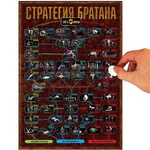 Квест-постер со скретч слоем Стратегия Братана, фото