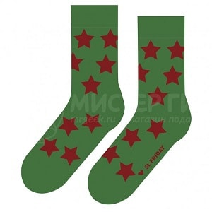 Носки Звездец зеленый, фото