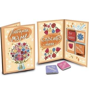 Шоколадная открытка Любимой маме, фото