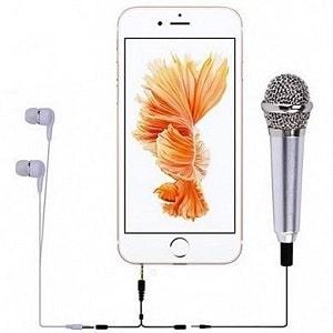 Мини микрофон для записи и караоке на смартфоне, фото