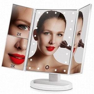 Зеркало косметическое с LED-подсветкой, фото