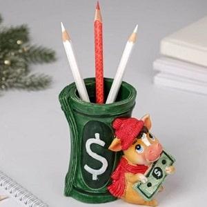 Подставка для карандашей Долларовый бычок
